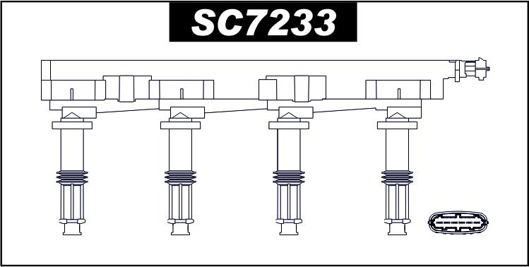 Cewka zapłonowa SC7233 OPEL Signum , Vectra C , Zafira