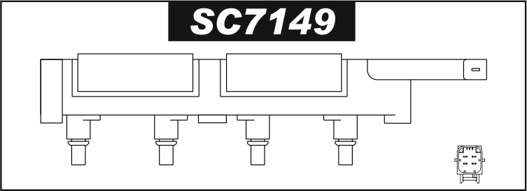 Cewka zapłonowa SC7149 Citroen C5 C8 Evasion Jumpy Xsara